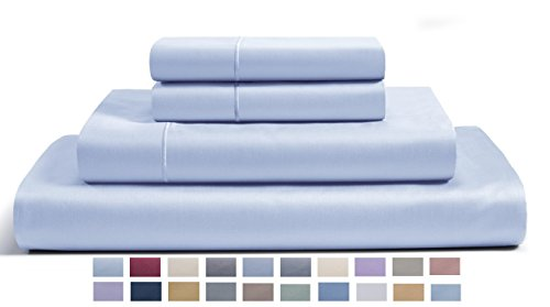 CHATEAU HOME COLLECTION 800-Thread-Count Egyptian Cotton Deep Pocket Sateen Weave Sheet Set (Queen, Ballad (100 Cotton Sheets)