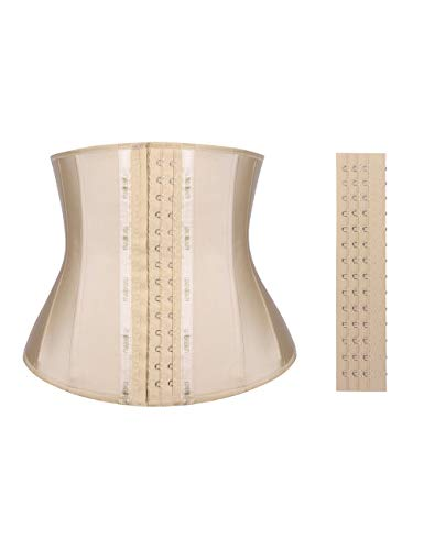 Lover-Beauty Latex Slimming Shaper Underbust Corset with 3 Hook Eyes Steel Boned Breathable Waist Cincher M