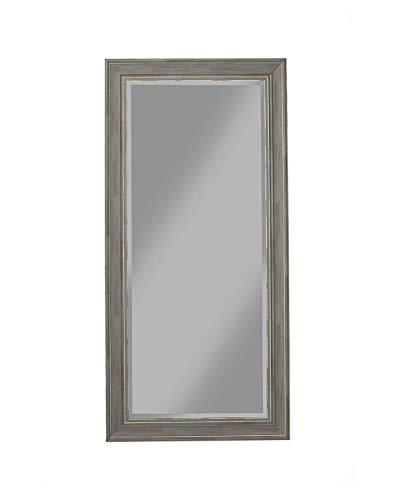 Full Length Wall Mirror - Rustic Rectangular Shape Horizontal & Vertical Mirror -