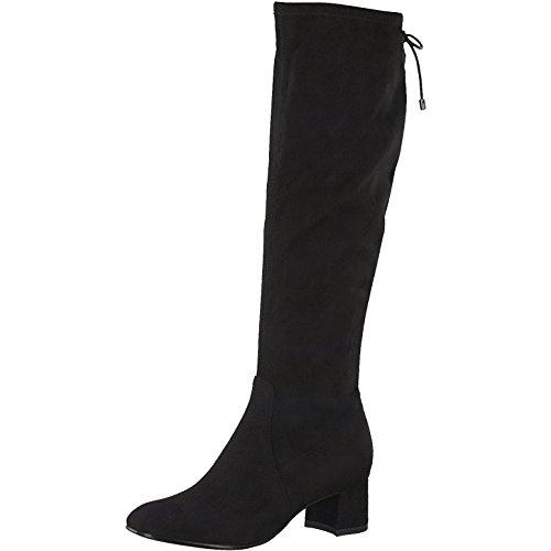 Damen 41 bis TAMRAIS Schwarz Größe Langschaft Stiefel 36 Tamaris 4znxqRwv4