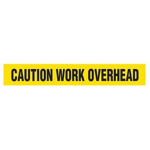 GHS Safety BT1055, PrimeGuard Caution Work Overhead Barricade Tape, Pack of 24 Roll