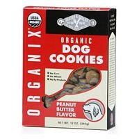 Castor and Pollux Organix Peanut Butter Flavored Dog Cookies, 12 Ounce Bag ( Pack of 4 ), My Pet Supplies