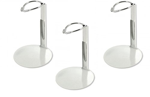 Mini White Metal Doll Stand (Pack of 3) Perfect For 3.5