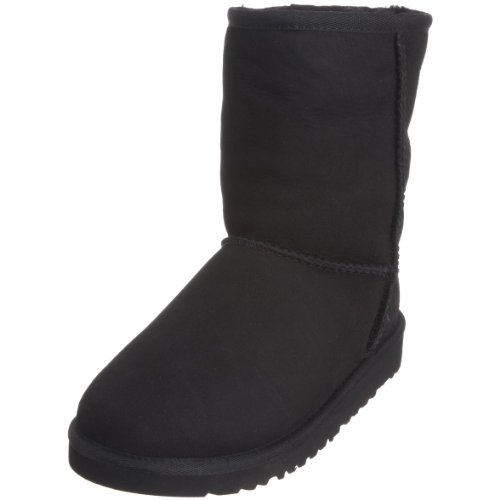 UGG Unisex Classic Short Pull on Boot (Toddler/Little Kid), Black, 9 M US Toddler
