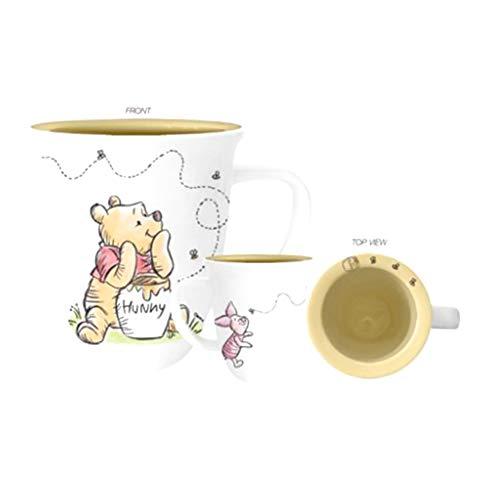Silver Buffalo Winnie The Pooh Bur First Hunny Wide Rim Ceramic Mug, 16-Ounce, White