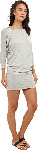 Culture Phit Women's Millie 3/4 Sleeve T-Shirt Dress Heather Grey Dress LG