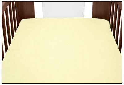 Terry Towelling Fitted Sheet 140x70cm Nursery Baby Cot/Cotbed/Mattress (Deep Yellow) Babymam
