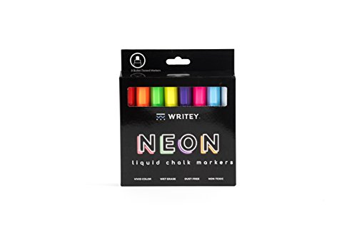 Writeyboard Bold 5mm Neon Low Odor Premium Wet Erase Markers Eco-Friendly, 8 - Bold Marker Whiteboard