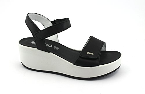 IGI CO 1176300 Black Women Shoes Wedge Sandals Leather Wedges Nero cZB80
