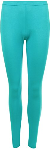 WearAll Women's Plus Size Plain Leggings - Turquoise - US 20-22 (UK 24-26)