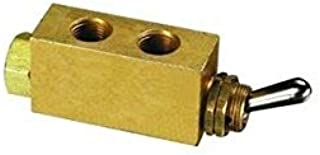 product image for Clippard M-MJTV-3 3-Way Toggle Valve, Enp Steel Toggle, G1/8