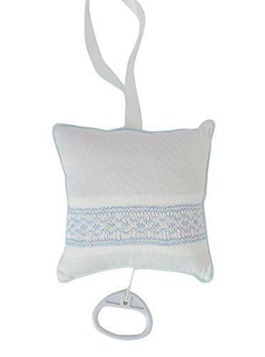 【送料無料】 Baby Smocked Hand Smocked Musical Baby Pillow - Blue Blue by Carriage Boutique B01BNVTQLI, aNYtime:315ab366 --- arianechie.dominiotemporario.com