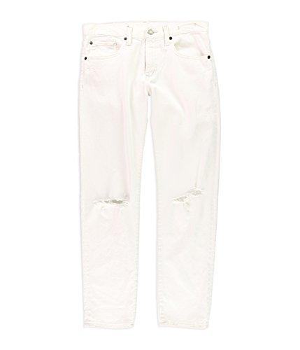 Ralph Lauren Womens Ripped Boyfriend Fit Jeans, White, 25 Regular