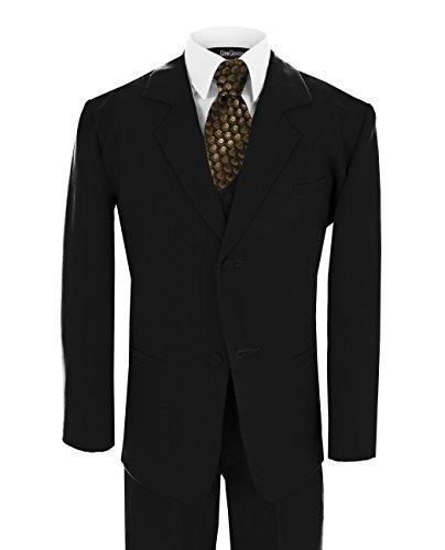 Baby Boy's Formal Dresswear Set G187 (Small/3-6 Months, Black/Gold) ()