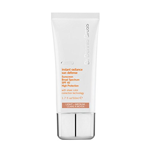 Dr Dennis Gross Instant Radiance Sun Defense Broad Spectrum SPF 40, Light/Medium, 1.7 Ounce