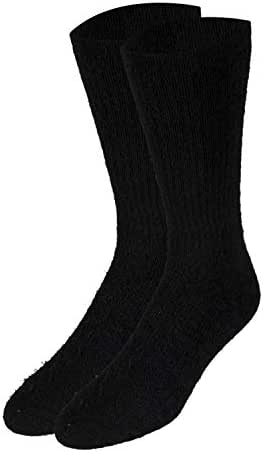Truform Medical Compression Socks for Men and Women; 8-15 mmHg Crew Length to Mid-Calf, Black, X-Small