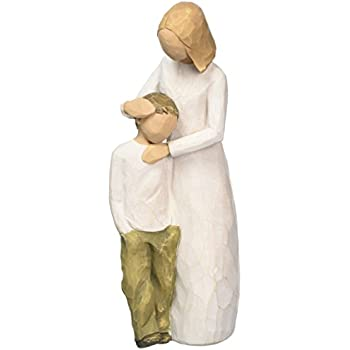 Amazon Com Willow Tree Hand Painted Sculpted Figure Mother And Son