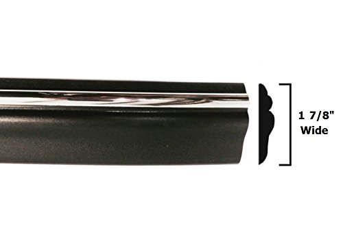 1994-1997 Dodge Ram Black/Chrome Side Body Trim Molding Pickup Truck - 1 7/8' Wide - 1995 1996 94 95 96 97 Automotive Authority