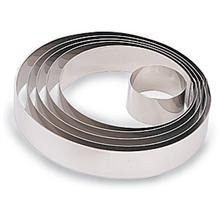 World Cuisine 398922 Stainless Steel Pastry Ring, H: 1 3/4 In Dia: 8 5/8 In -- 2 per case by Paderno World Cuisine