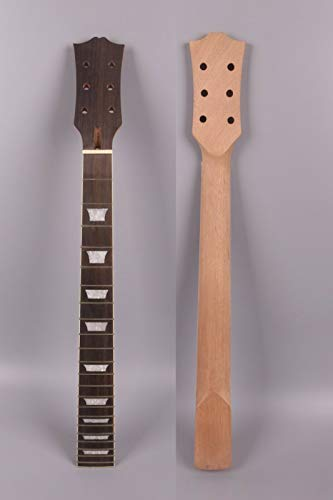 Yinfente Guitar Neck 22 fret 24.75 inch Mahogany Rosewood Fretboard Guitar Neck Replacement Set in SG (bolt on ()