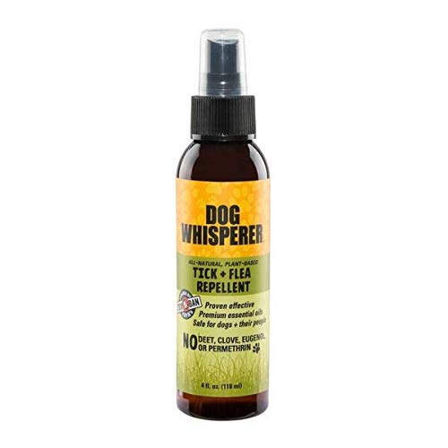 YAYA ORGANICS Dog Whisperer Tick + Flea Repellent, Proven Effective, All-Natural, Safe for Dogs and Their People (4 Ounce Spray)