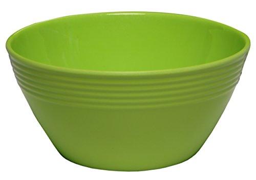 Melange 6-Piece  Melamine Bowl Set (Solids Collection ) | Shatter-Proof and Chip-Resistant Melamine Bowls | Color: Green (Bowls Get Melamine)