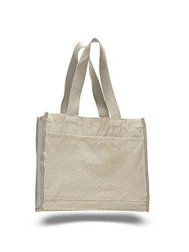 PACK OF 2 Heavy Canvas Fancy Shopper Tote Bag, Reusable Grocery Bag, Beach Bag (Fancy Shopper Bag)