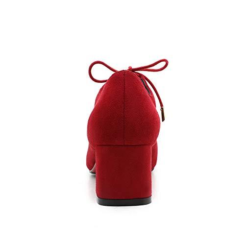 DGU00664 36 AN Sandales Red Compensées Rouge 5 Femme 47ASAwqxdW