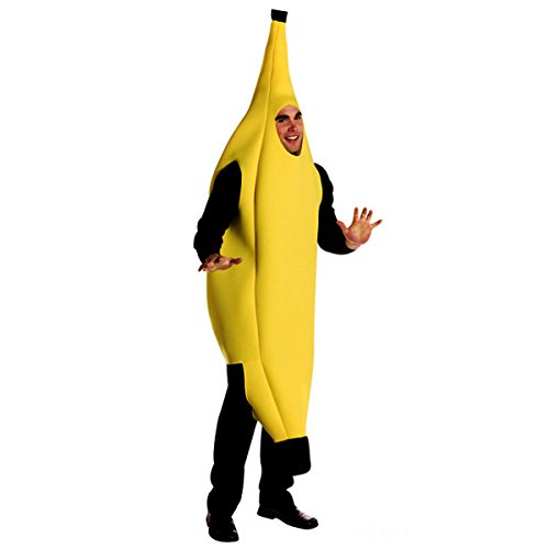 [Quesera Men's Banana Deluxe Adult Banana Suit Funny Christmas Adult Costumes, Yellow, S-XL] (Adult Costumes)