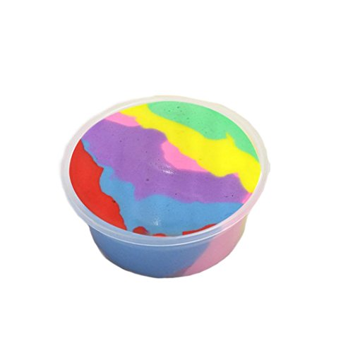 Makeupstore 2018 Newest Ice Crystal Slime Mud with Fishbowl Beads, 60ml Jumbo Fluffy Floam Slime Stress Relief Toy Scented Sludge Toy for Kids and Adults, Super Soft and Non-sticky