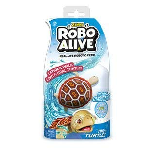 - NEW Robo Alive Tiny Red Turtle - Water Activated Real Life Movements - Duel functioning: Walks on land and swims in water. Perfect Bath Toy or Stocking Stuffer -