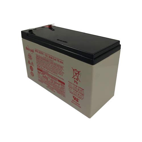 DataSafe NPX-35TFR 12 Volt//35 Watts per Cell Sealed Lead Acid Battery with 0.250 Connector Flame Retardant Case