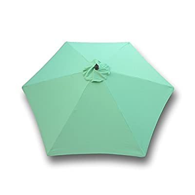 Formosa Covers 9ft Umbrella Replacement Canopy 6 Ribs in Avocado Lime Green (Canopy Only) : Outdoor Canopies : Garden & Outdoor