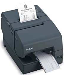 Epson C31CB25015 TM-H6000IV Multifunction Printer, 9 Pin, Without MICR, Without Endorsement and Drop in Validation, Serial and USB Interfaces, Dark Gray
