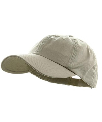 Low Profile Dyed Cotton Twill Cap - Putty - Baseball Logo Beige