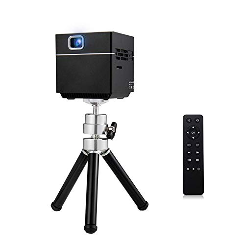 KURT DLP Cube Projector BondLong S6 1080P Supported Android and iOS HD Wireless WiFi Compatible with HDMI Devices Micro SD Card - Includes Mini Tripod from KURT