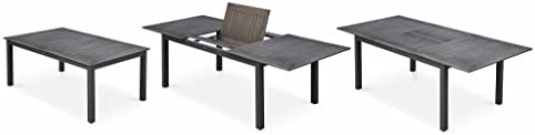 Alice\'s Garden Salon de Jardin Table Extensible - Chicago Gris foncé ...
