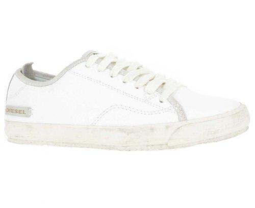 Diesel Lowday Herren Sneaker Aus Hochwertigem Leder, Weiß, Größe 43