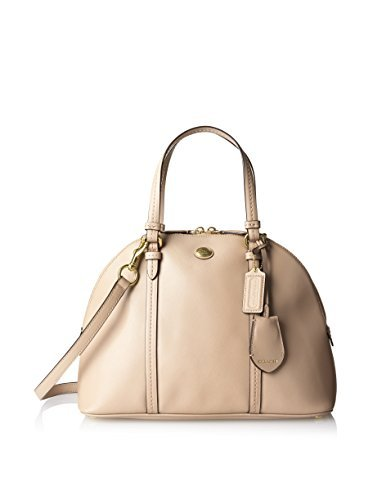 Coach Peyton Sand Saffiano Leather Cora Domed Satchel - Style 25671 by Coach