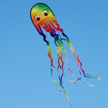 CIM Einleiner-Drachen - Draki RAINBOW - für Kinder ab 3 Jahren - Abmessung: 25x160cm - inkl. Drachenschnur Colours in Motion