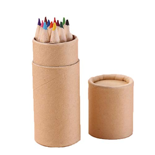 4th Grade Postcards - Inverlee Back to School Supplies, 12 Color Small Pencil Painting Pen Color Lead Pencil (Multicolor)