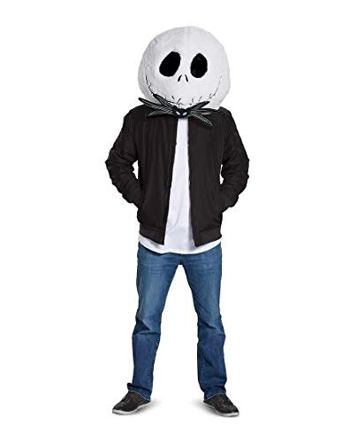 Maskimals Nightmare Before Christmas Jack Skellington Plush Head Mask Halloween Costume