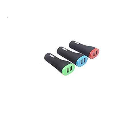 2 Dual USB Interface Output 5V 1AMP Car Chargers Fast Charging Combonation: Electronics