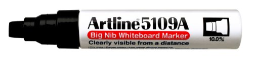 Artline 5109A Big Nib Extra Large Jumbo Dry Erase Whiteboard Markers (BLACK, Pack of 6) by Artline (Image #1)