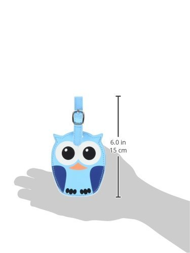 Kikkerland Whoo Owl Luggage Tags, Assorted Blue and Pink (TT12-A) Photo #2