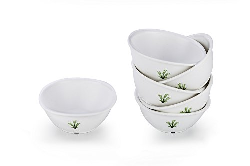 Signoraware Bamboo Plastic Serving Bowl Set, 220 ml, Set of 6, White Price & Reviews