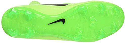 NIKE Kids Mercurial Superfly V FG Electric Green/Black/Flash Lime Soccer Shoes - 4Y - Image 3