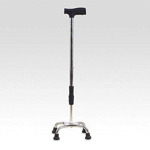 jiaminmin Walking Stick Stainless Steel Elderly Can Regulate The Walking Stick Walking Device Walking Cane Adjustable Folding Quad Cane Pivoting Quad Base, Folding Cane with Adjustable by jiaminmin