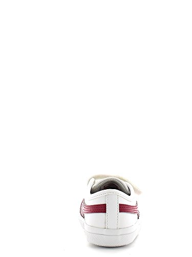 Puma , Baskets pour garçon White-cerise
