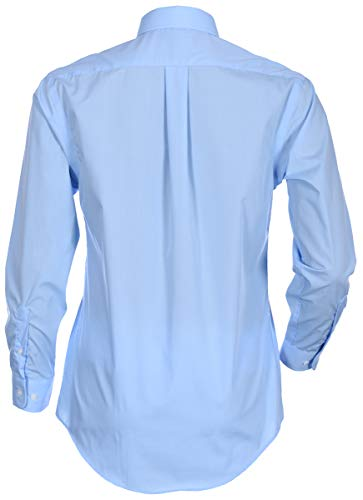 George Men's Classic Fit Long Sleeve Poplin Solid Button-Up Dress Shirts (Medium Long, Medium Blue) by George (Image #2)
